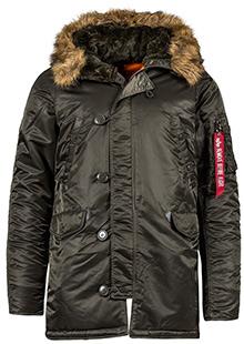 Куртка аляска Alpha Industries Slim Fit N-3B Parka (Rep.Grey) MJN31210C1