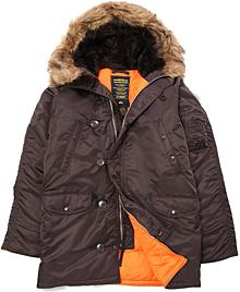 Куртка аляска Alpha Industries Slim Fit N-3B Parka (deep brown) MJN31210C1