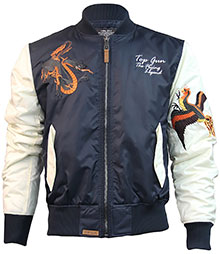 Куртка Top Gun The Flying Legend Bomber Jacket (біло-синя)