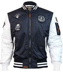 Бомбер Top Gun MA-1 Color Block Bomber Jacket (синьо-білий)
