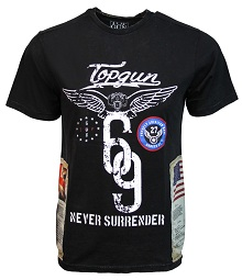"Футболка Top Gun ""Flags Tee"" (чорна)"