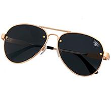 """Сонцезахисні окуляри авіатори Top Gun Polarized Aviator """"Rivet"""" (Gold) TGS1701"""