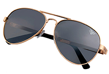 """Поляризаційні сонцезахисні окуляри Top Gun Polarized Aviator """"Runway"""" (золоті)"""