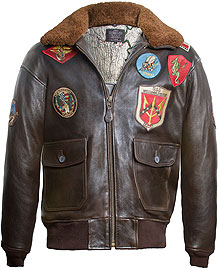 Шкіряна куртка Топ Ган Top Gun Official Signature Series Jacket (Brown) Top Gun