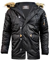Куртка аляска Top Gun N-3B Parka (чорна)