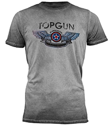 "Футболка Top Gun ""Wings Logo"" Tee (сіра)"
