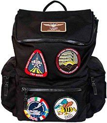 Рюкзак Top Gun backpack with patches (чорний)