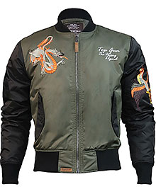 Куртка Top Gun The Flying Legend Bomber Jacket (оливкова)