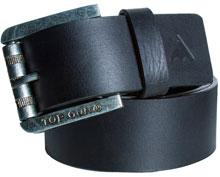 Шкіряний ремінь Top Gun Black Leather Belt