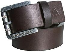 Шкіряний ремінь Top Gun Dark Brown Buff Harness Leather Belt (коричневий)