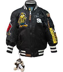 Дитяча льотна куртка Kid's MA-1 Champs Bomber with hoodie (чорна)