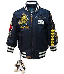 Дитяча льотна куртка Kid's MA-1 Champs Bomber with hoodie (синя)