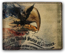 Шкіряний гаманець Top Gun American Bald Eagle