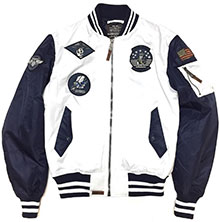 Бомбер Top Gun MA-1 Color Block Bomber Jacket (white navy) TGJ1649