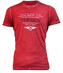 "Футболка Top Gun ""Specs-Logo"" Tee (red) TGM1710"