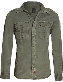 Сорочка Top Gun Men's Button Down Olive Shirt