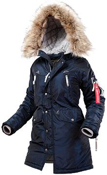 Жіноча куртка аляска N-3B Vega Airboss 17300783127 (синій металік)
